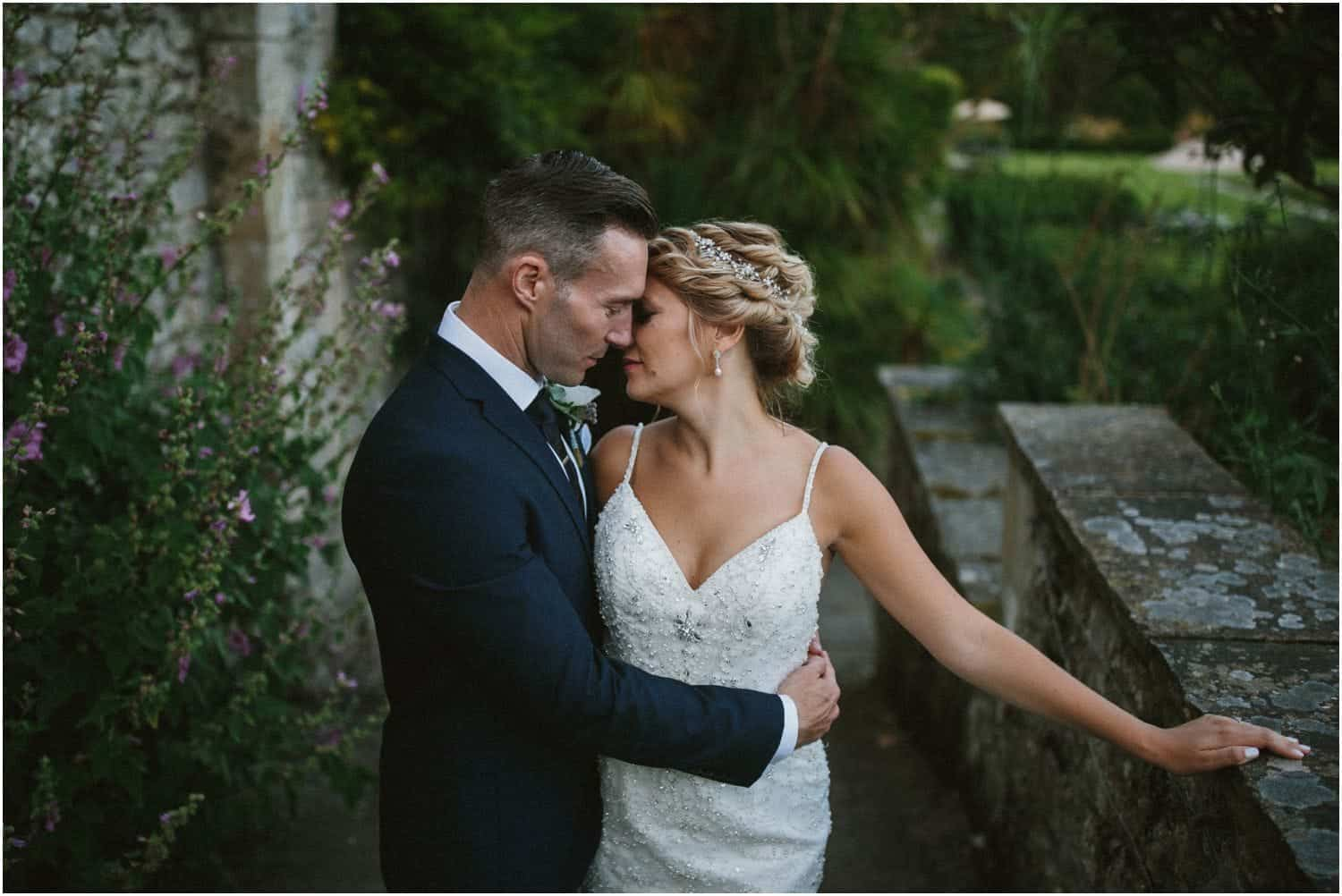 A newly married couple at their Port Lympne Mansion wedding