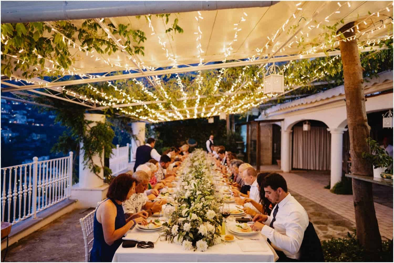 A magical Villa Oliviero Positano wedding reception