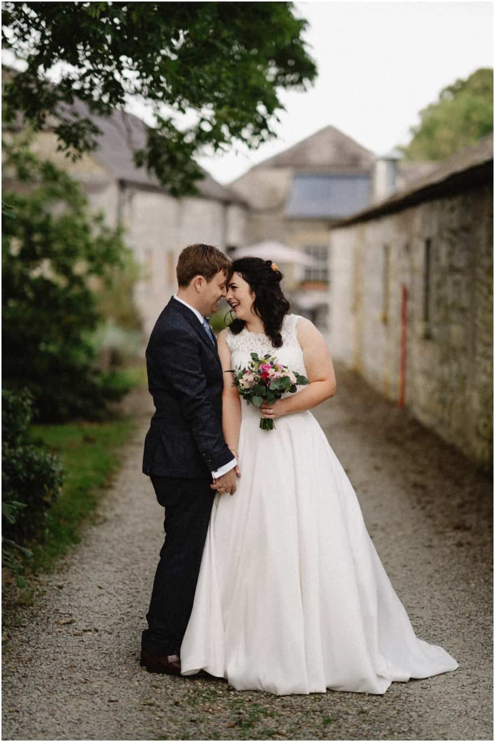 A bride and groom at their Durhamstown Castle wedding